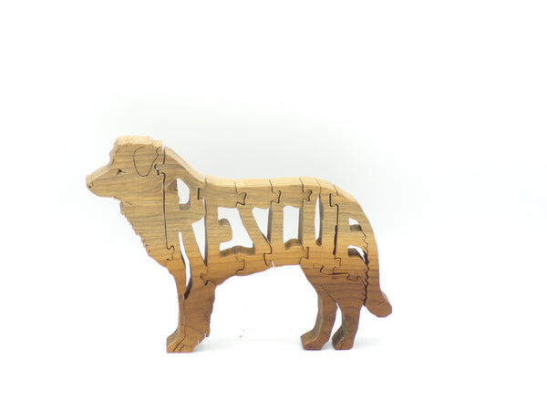 Wooden Rescue Dog Jigsaw Puzzle | Hand Cut Puzzle | Animal Puzzle | Rescue Dog Toys | Educational Puzzle | Kids Puzzle | Handmade Puzzle