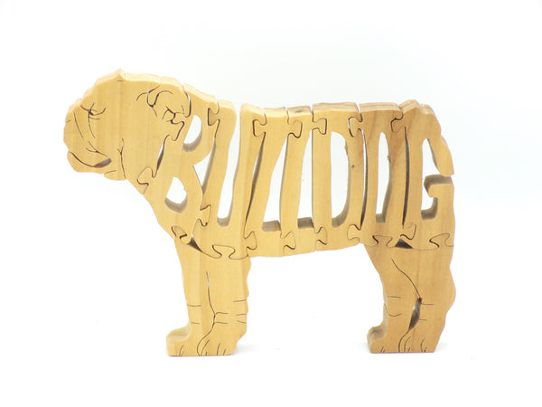 Wooden Bulldog Jigsaw Puzzle | Hand Cut Puzzle | Animal Puzzle | Bulldog Toys | Educational Puzzle | Kids Puzzle | Handmade Puzzle
