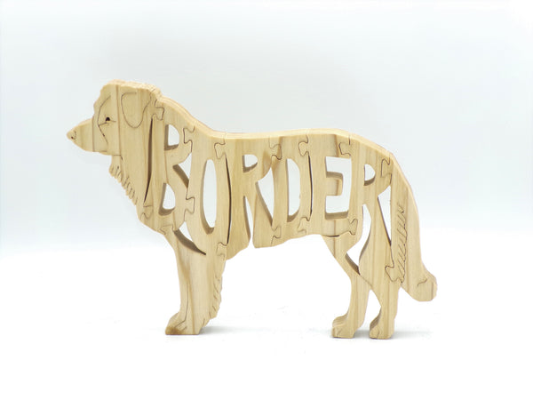 Wooden Border Collie Jigsaw Puzzle | Hand Cut Puzzle | Dog Puzzle | Border Collie Toys | Educational Puzzle | Kids Puzzle | Handmade Puzzle