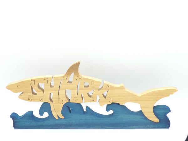 Wooden Shark Jigsaw Puzzle | Hand Cut Puzzle | Animal Puzzle | Shark Toys | Educational Puzzle | Kids Puzzle | Handmade Puzzle