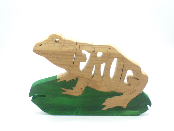 Wooden Frog Jigsaw Puzzle | Hand Cut Puzzle | Animal Puzzle | Frog Toys | Educational Puzzle | Kids Puzzle | Handmade Puzzle