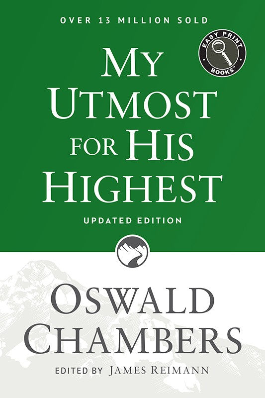 My Utmost for His Highest Easy Print (updated, paperback)