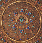 Load image into Gallery viewer, Wall Hanging Filigree Mandala with Tibetan stones