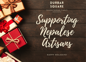 Holiday Gift card - Supporting Nepalese Handicrafts