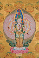 Load image into Gallery viewer, Lokeshowar Saharshabhuja Thangka