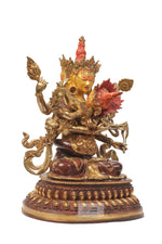 Load image into Gallery viewer, Gold Plated Guhyasamaja statue