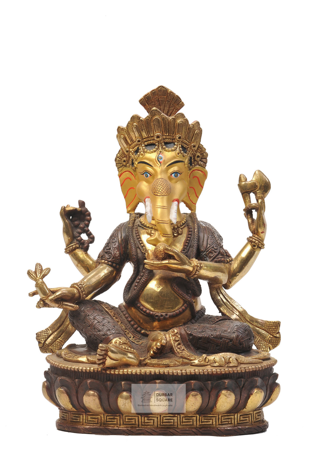 Ganesh Statue with Gold Dusted Face
