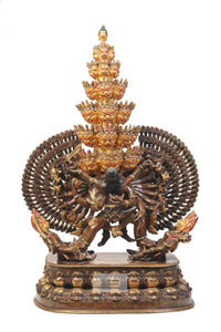 Gold Plated Vishwaroopa Statue
