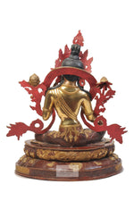 Lade das Bild in den Galerie-Viewer, Gold Plated Green Tara Statue