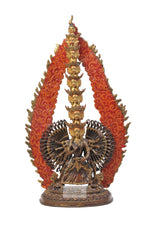 Lade das Bild in den Galerie-Viewer, Gold plated Sitatapatra statue