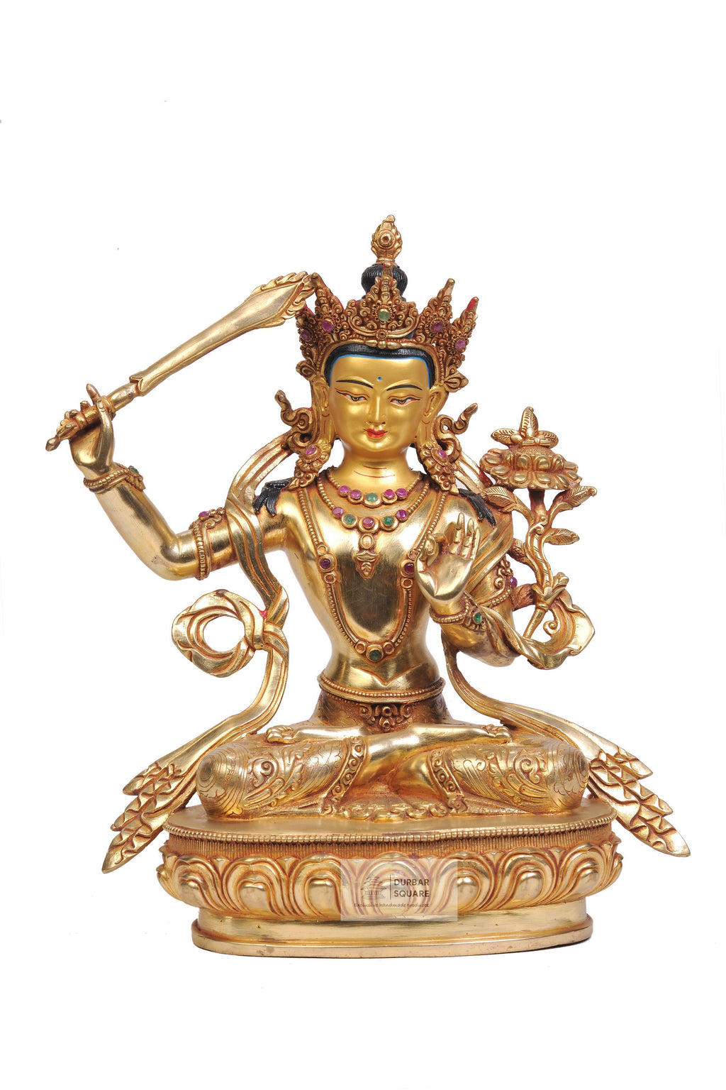 Gold plated Manjushree Statue