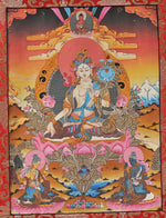 Load image into Gallery viewer, White Tara Thangka