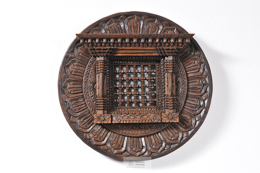 Carved Mandala Eye Window