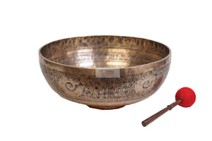 Singing Bowl carved with decorated conch