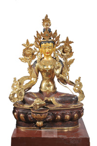 Gold plated Tara Statue