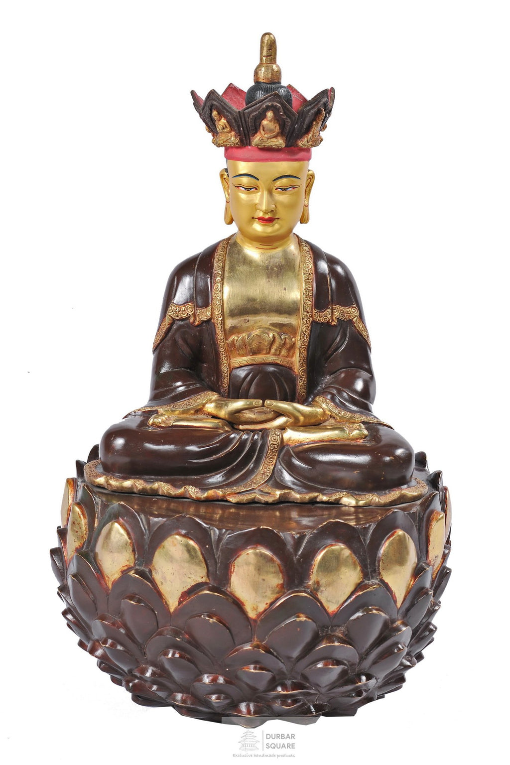 Gold plated Chandi Cundi Buddha Statue