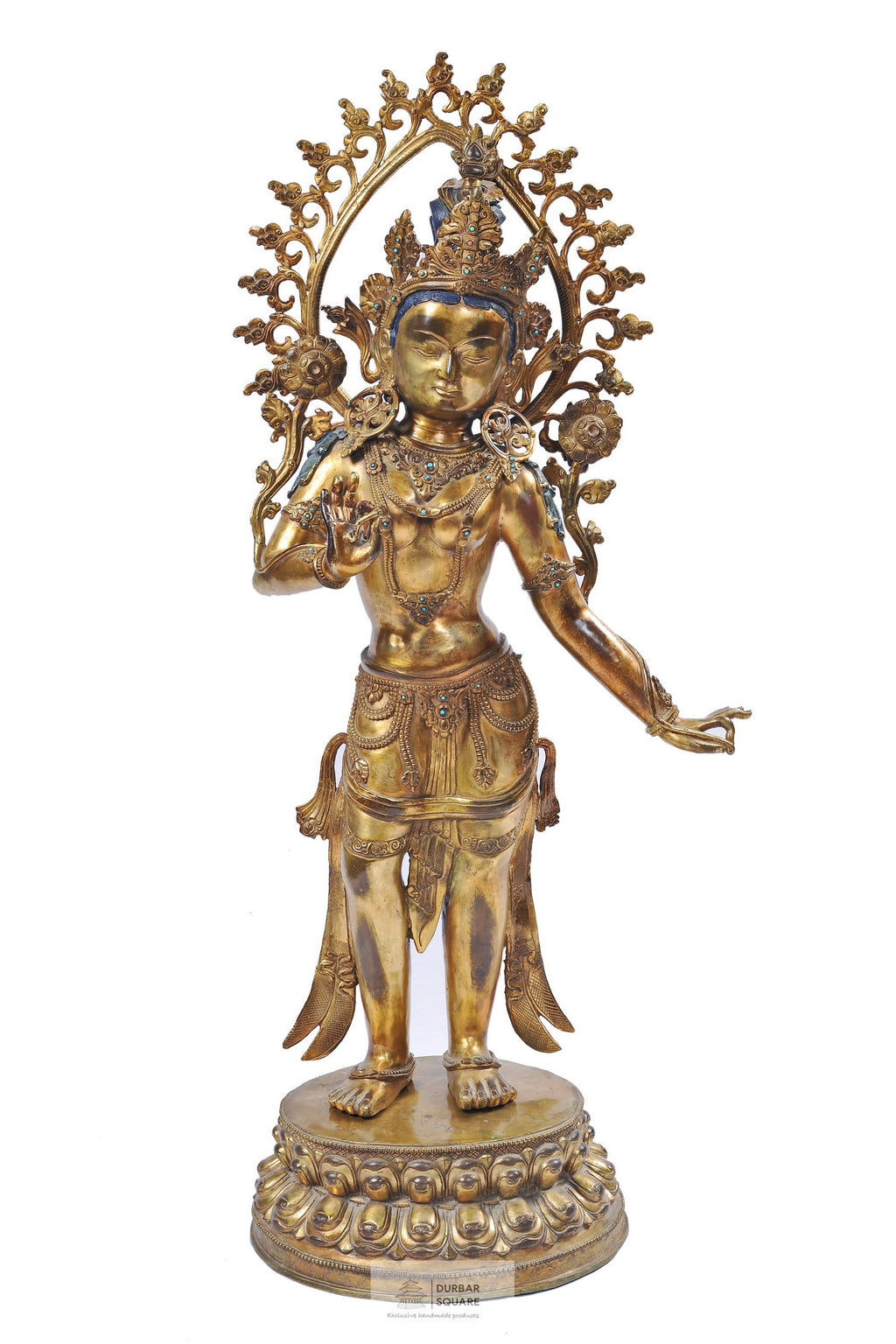 Fully Gold Plated Standing Tara