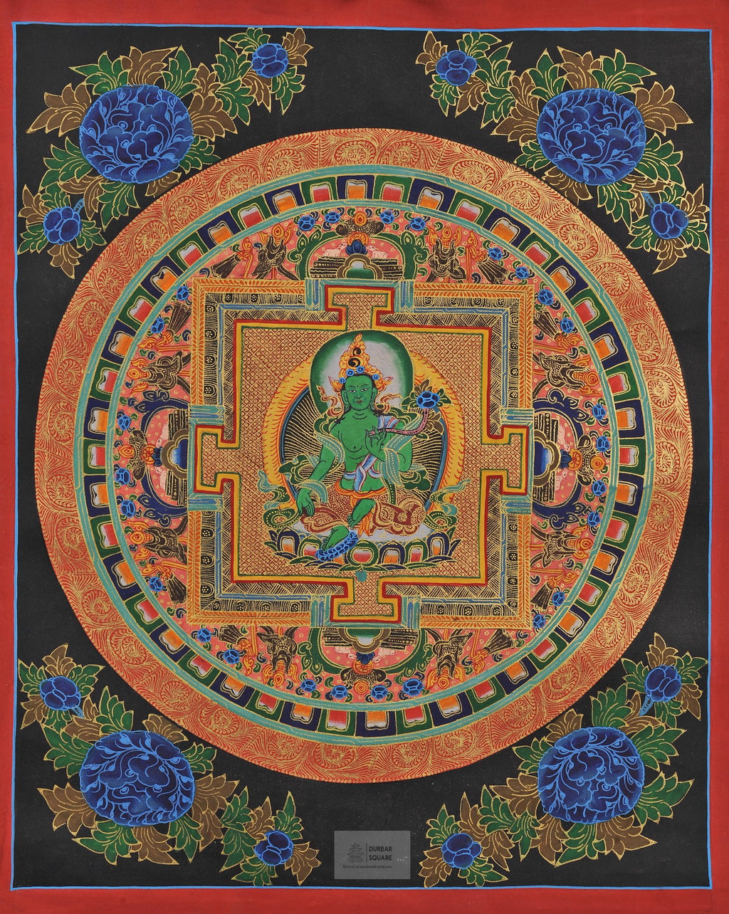 Mandala with Green Tara Thangka