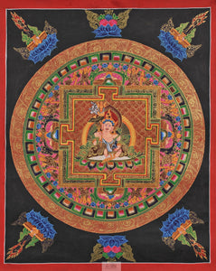 Mandala with Kuber Thangka