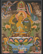 Lade das Bild in den Galerie-Viewer, Manjushree Thangka with Amitabha Buddha