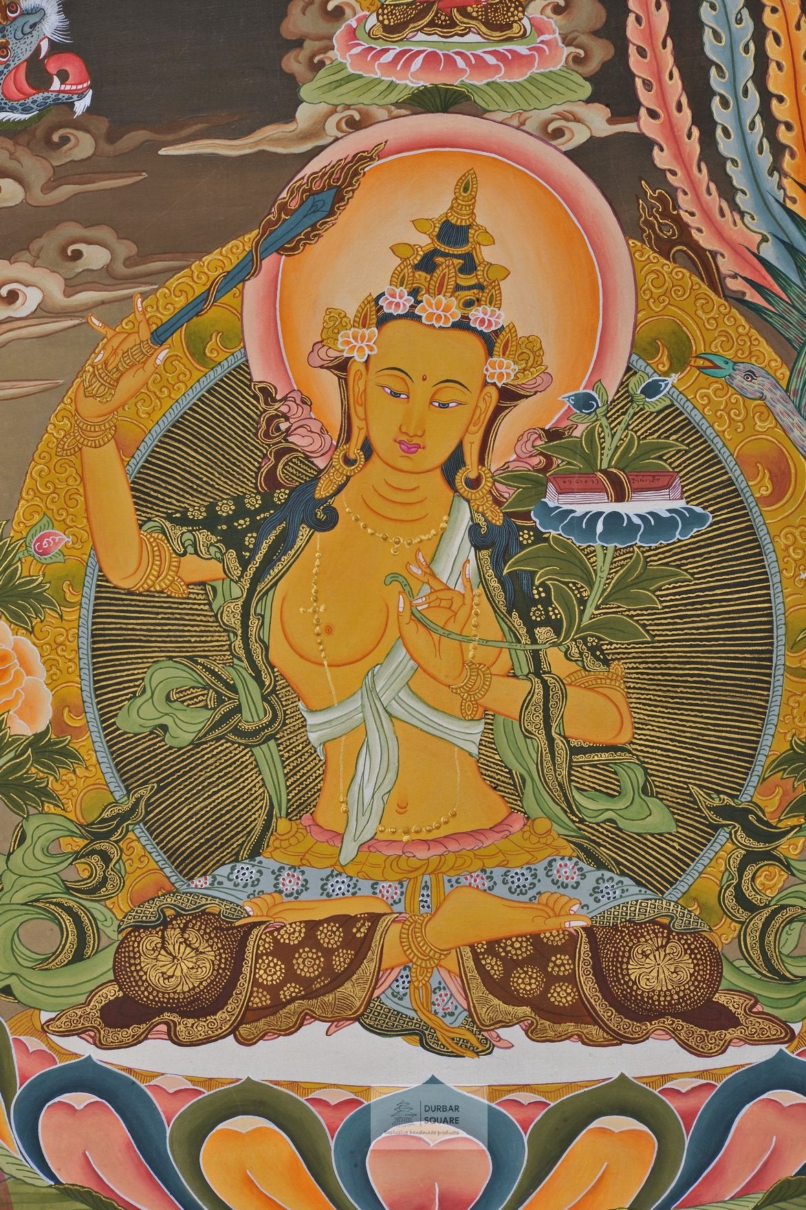 Manjushree Thangka with Amitabha Buddha