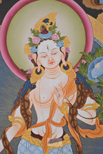 Lade das Bild in den Galerie-Viewer, Standing White Tara Thangka
