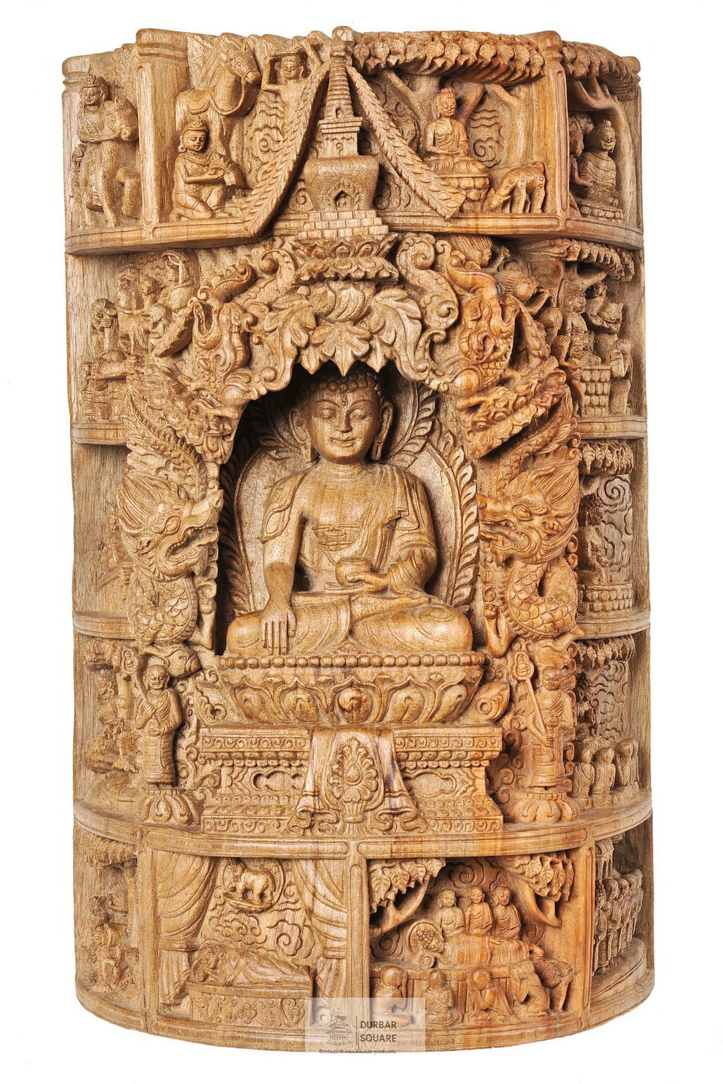 Buddha - carved into single piece Kapur