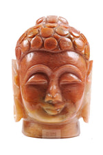 将图片加载到图库查看器,Buddha Head carved out of Onyx stone
