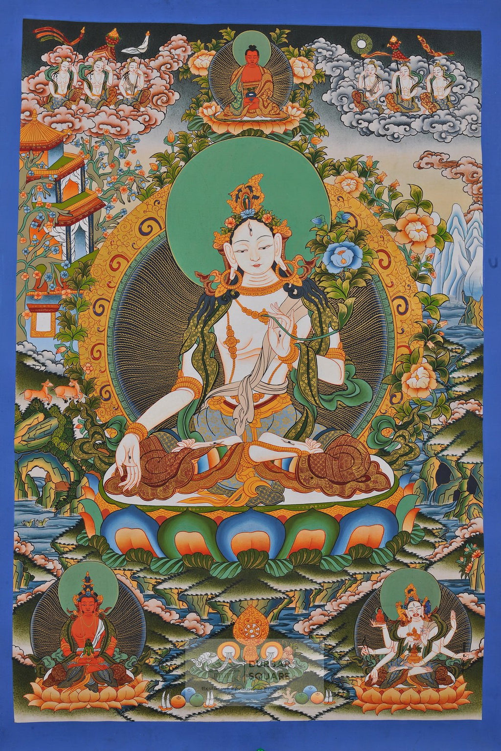 White Tara Thangka with Amitābha & Namgyälma