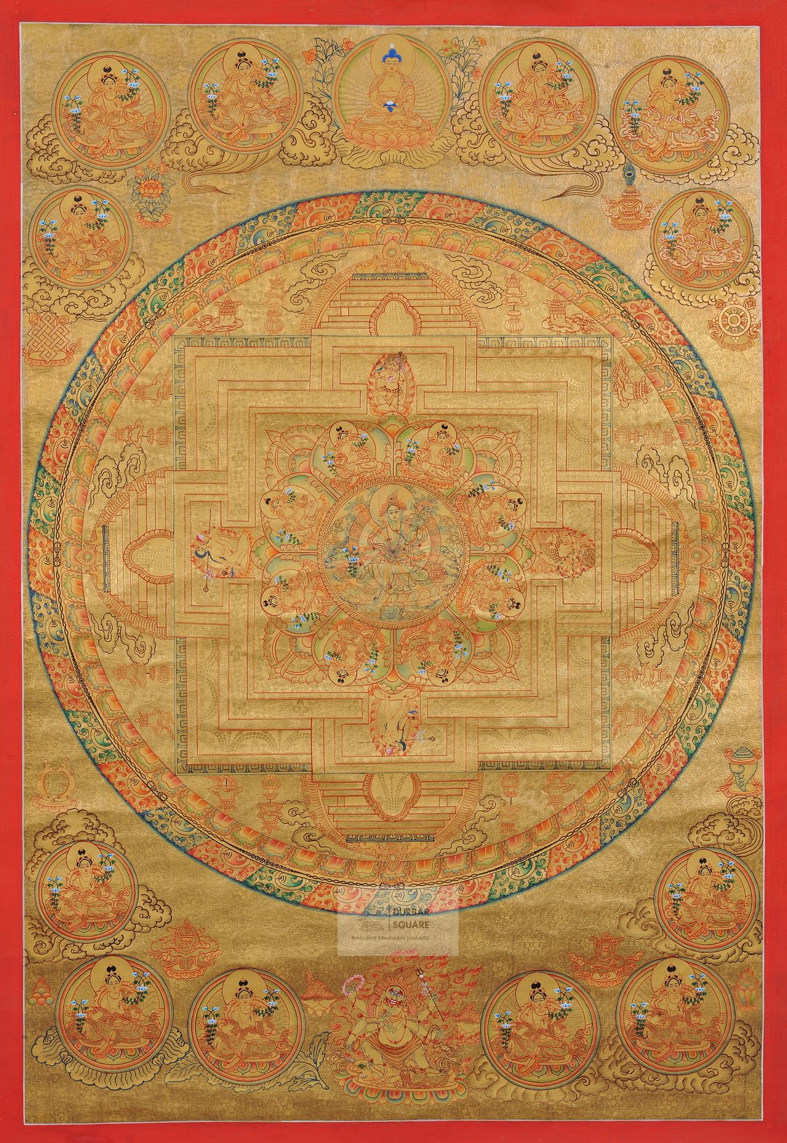 Green Tara Mandala Thangka