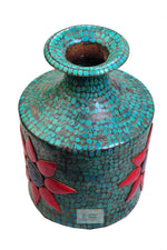 Lade das Bild in den Galerie-Viewer, Turquoise Coral Ghagri (Water Pot)