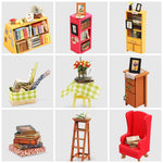 MiniVill 3D Wooden Miniature Study DIY Model Dollhouse Craft Kit