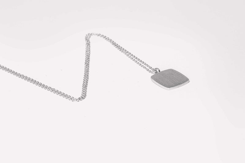 IX Cushion Pendant Silver