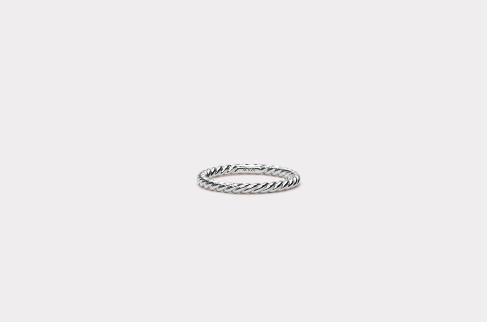IX Rope Ring Silver