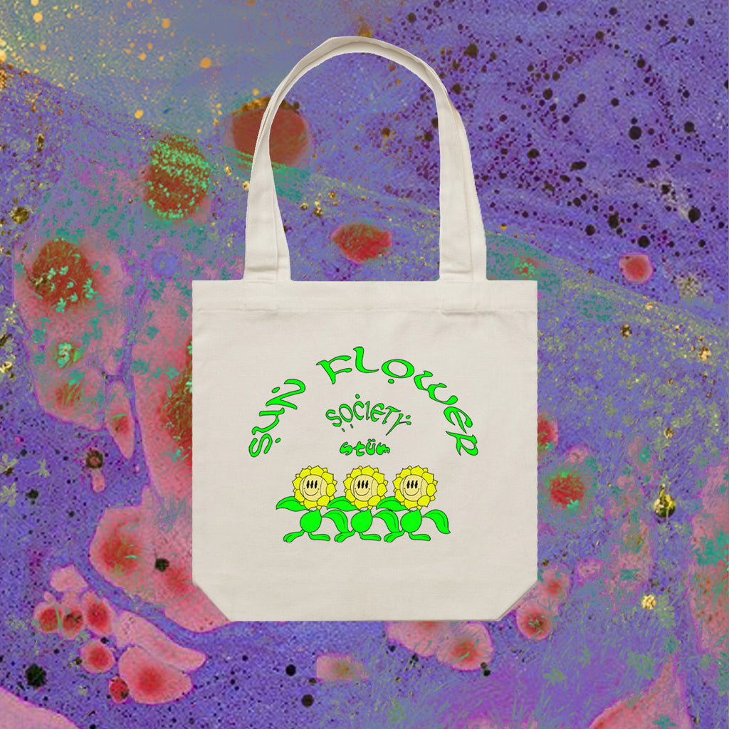 Sunflower Society Tote - Natural