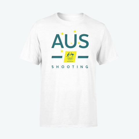 AOC Shooting Adults White Supporter Tee