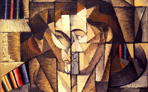 Fragmenting used in abstract art paintings