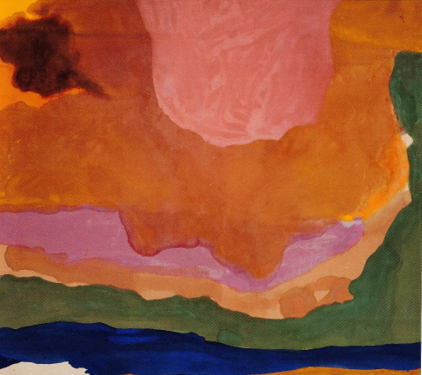 Staining used in abstract art