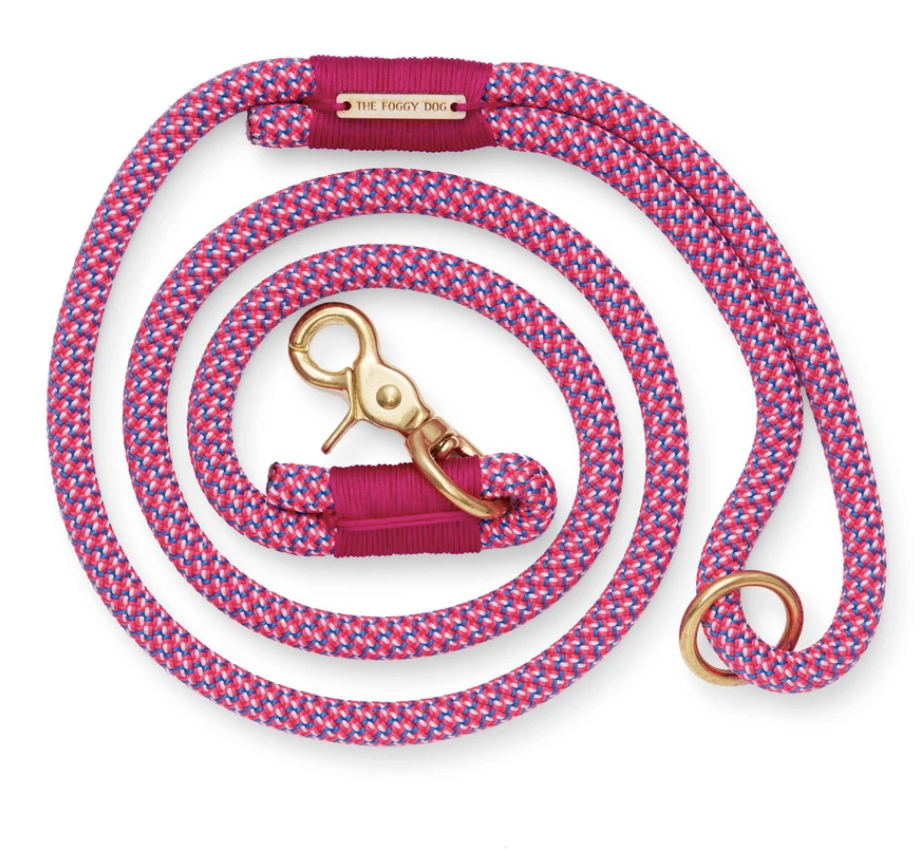 Bright Fuchsia Climbing Rope Dog Leash