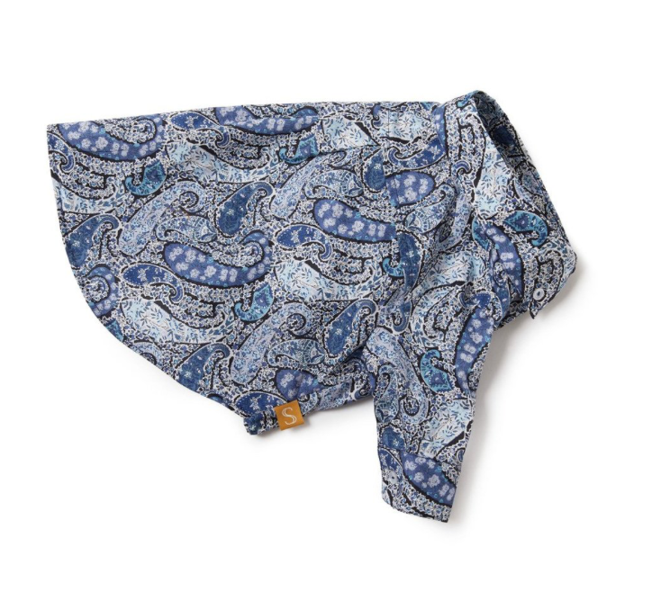 Liberty Dog Shirt - Blue Paisley