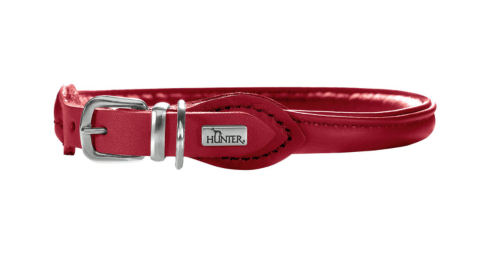 Elk Round and Soft Petit Leather Collar - for smaller dogs