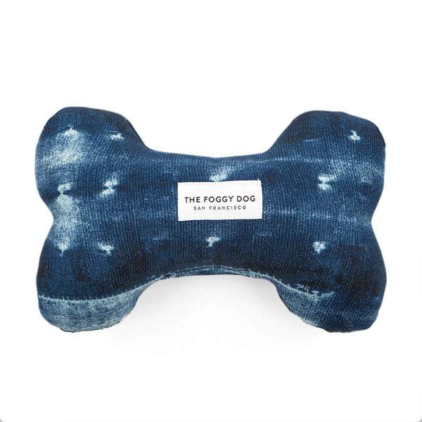 Indigo Mud Cloth Dog Squeaky Toy