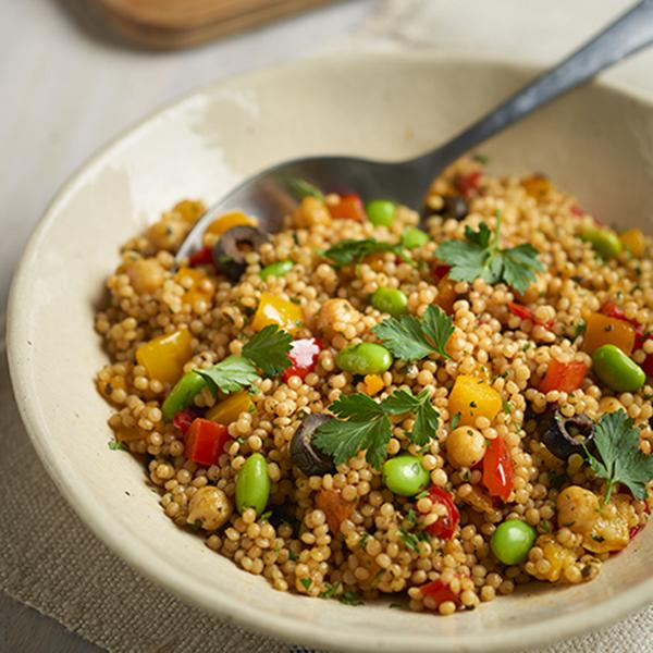 Oriental-Style Pearl Couscous Salad