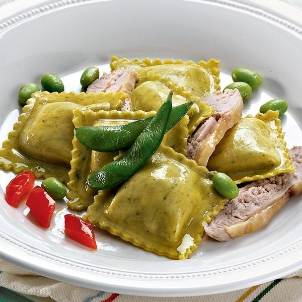 Ricotta and Asparagus Tortelli