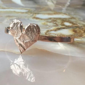 Faceted Heart Cuff