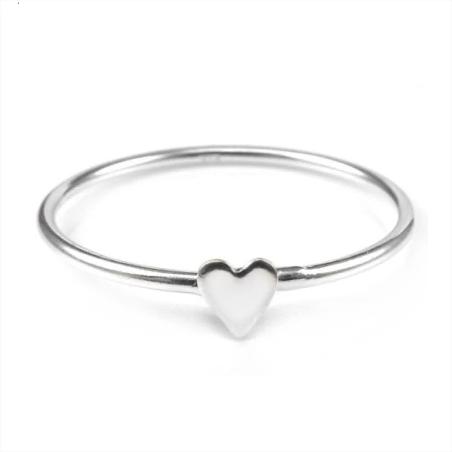 STERLING SILVER Itty Bitty Teeny Weeny Heart Ring