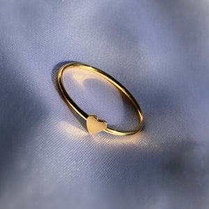 TWO TONE Itty Bitty Teeny Weeny Heart Ring