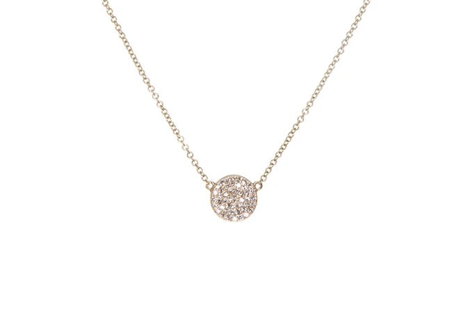 Diamond Mini Imperfect Circle Necklace