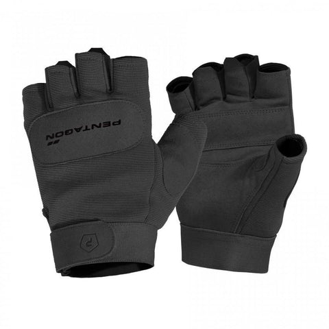 Pentagon - Duty Mechanic 1/2 Gloves (Black) - Black-Tactical.com