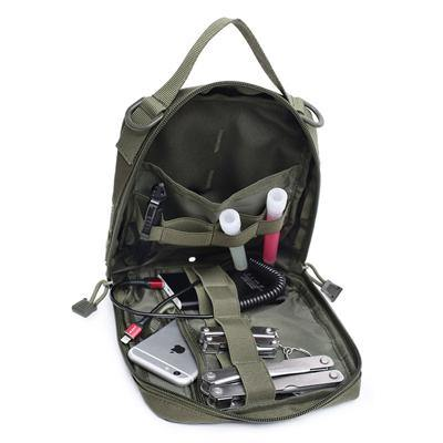 Black Stealth -  Tactical Molle Tool Pouch Vertical (ZJ203)